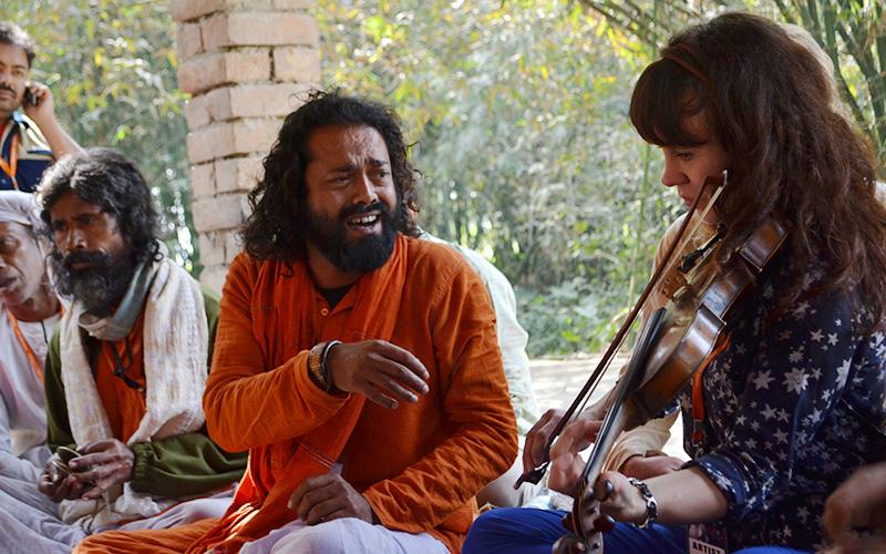 Shyam Khyapa during a cultural exchange