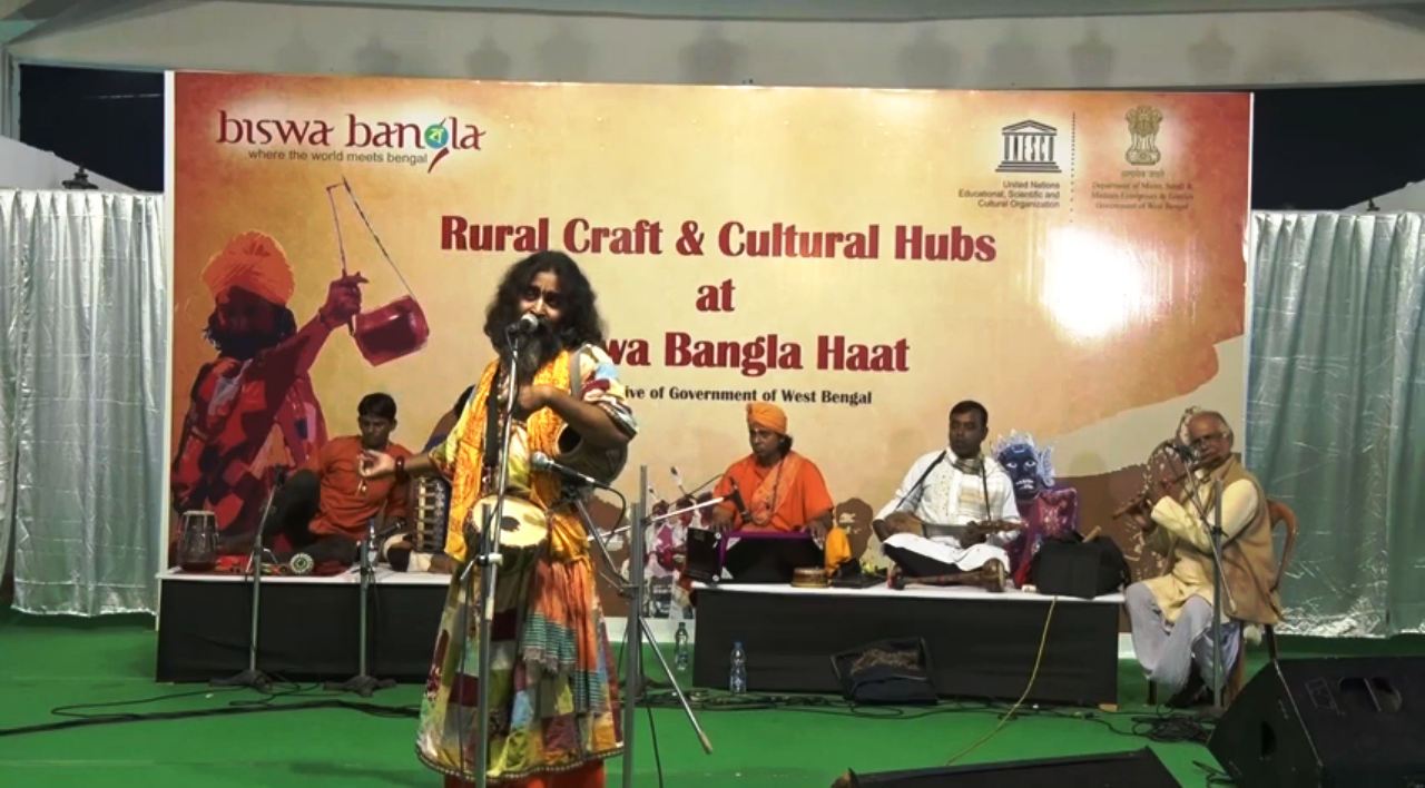 Baul performance by Kartik Khyapa