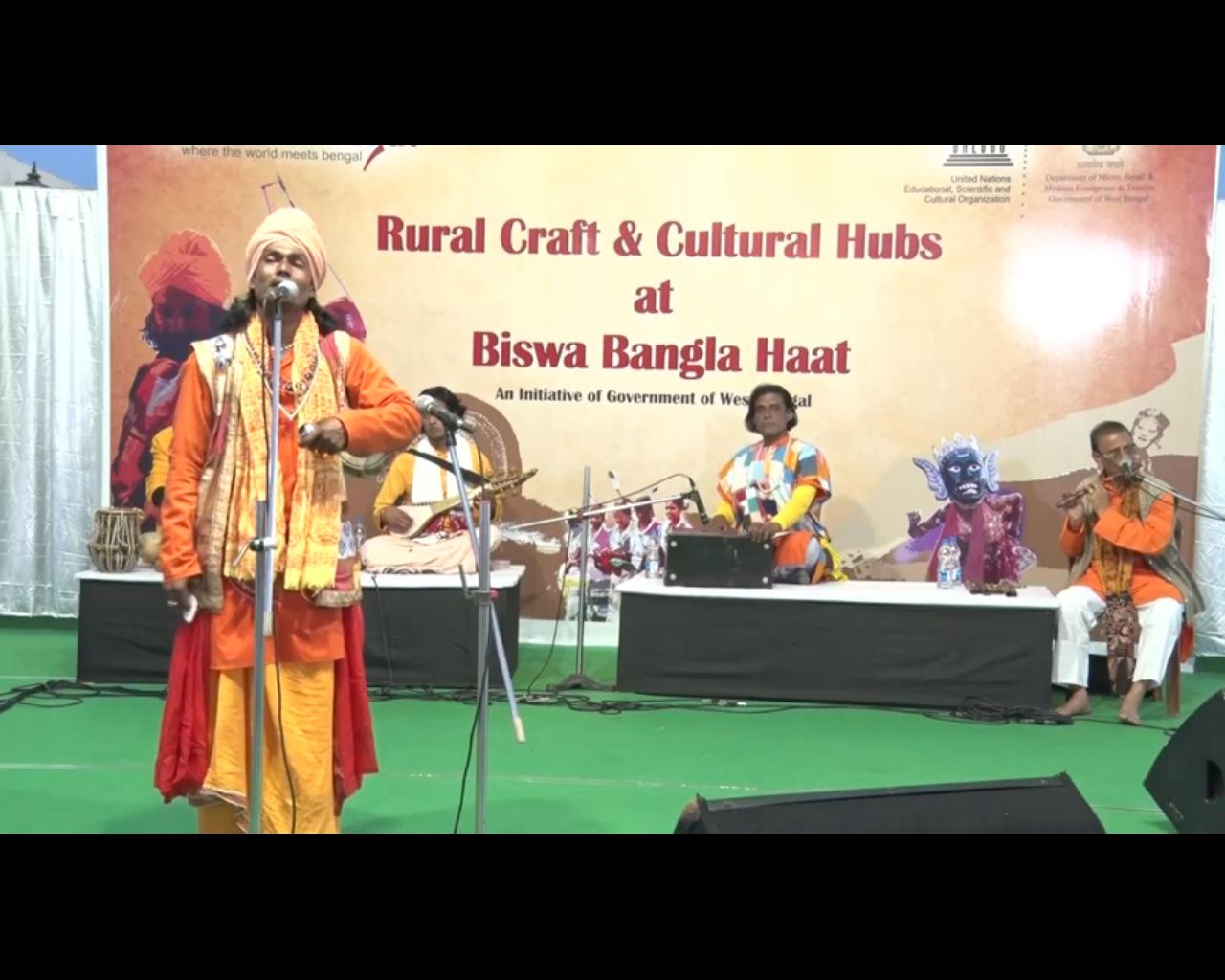 Baul performance by Pradyut Bala at Bishwa Bangla Haat