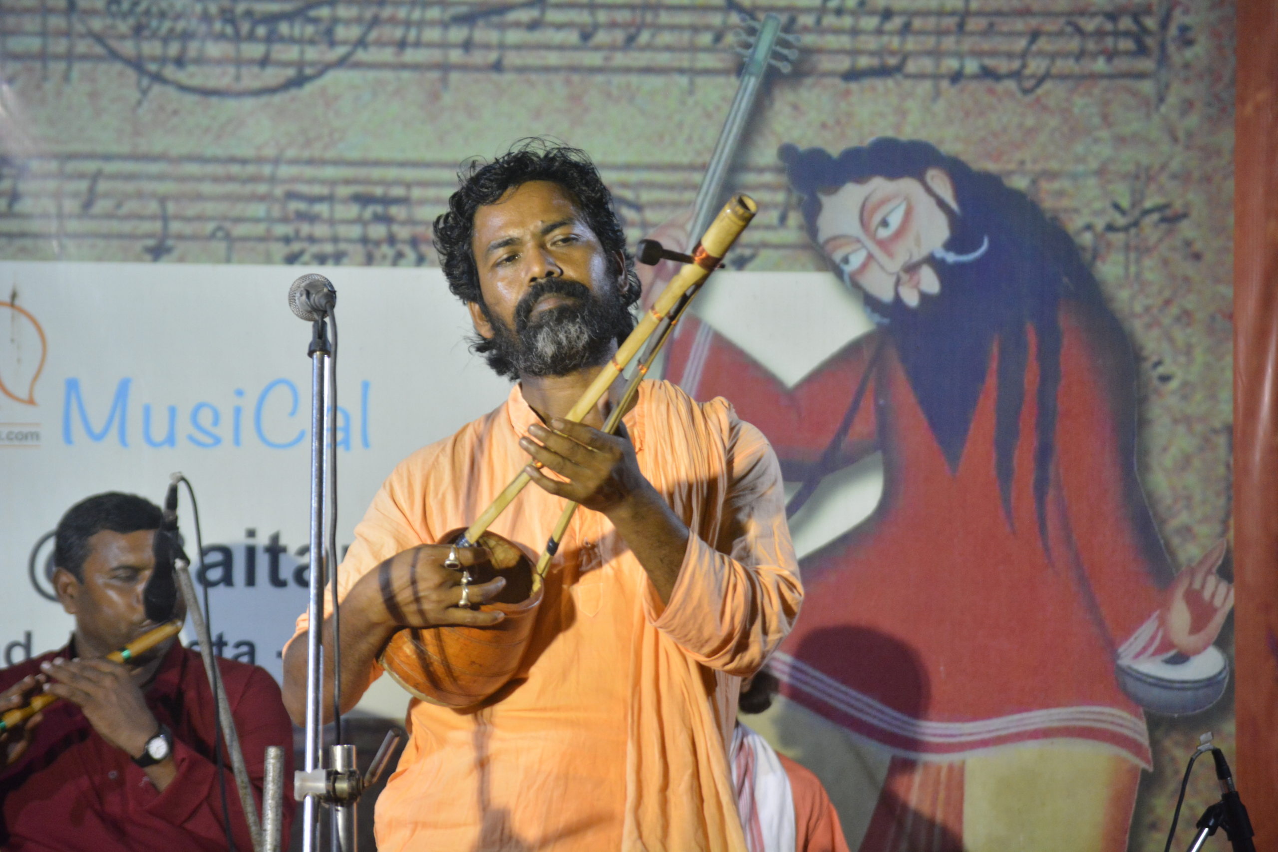 Bipadbhanjan Malakar performing at Akhra@Baitanik