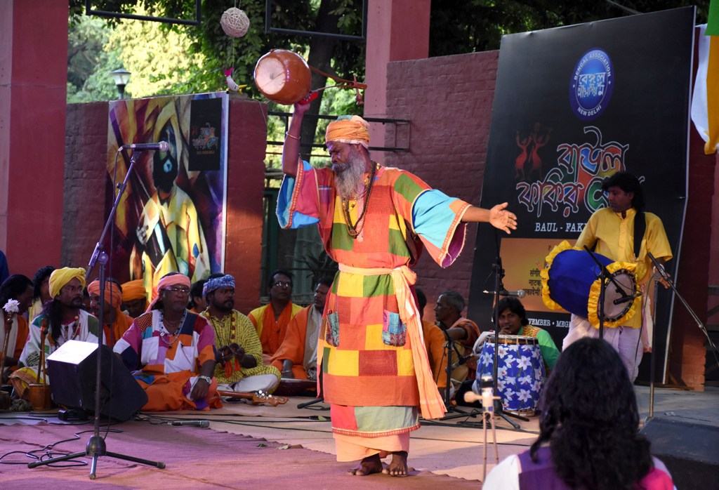 Arjun Khyapa performing at Baul Fakiri Mela Delhi