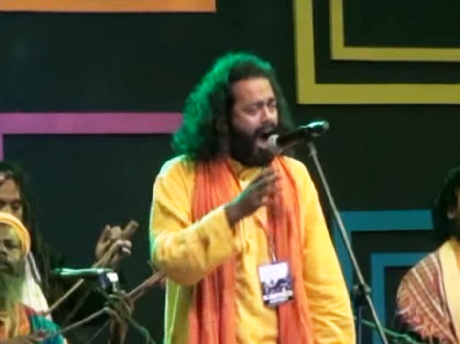 Baul performance by Shyam Khyapa